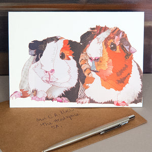 CK0158 'Guinea Pigs' Greetings Card (packed in 6's)
