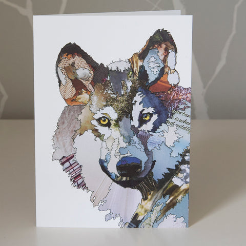 CK0166 'Wolf' Greetings Card (packed in 6's)