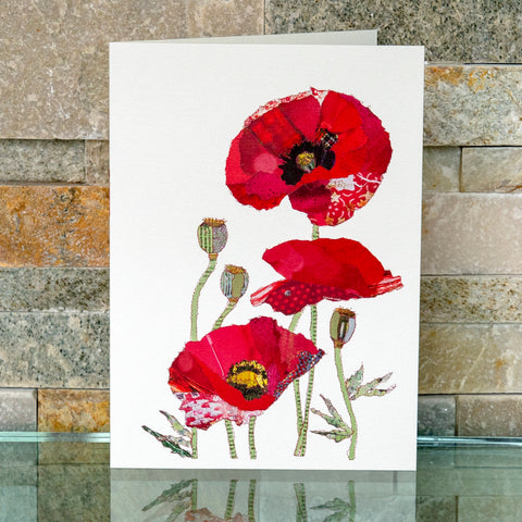 CKHF03B 'Poppies' Greetings Card (packed in 6's)