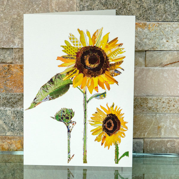 CKHF04B 'Sunflower' Greetings Card (packed in 6's)