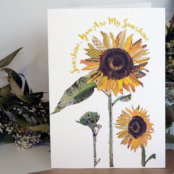 CKHF04 'Sunflower - You are my Sunshine' Greetings Card (packed in 6's)