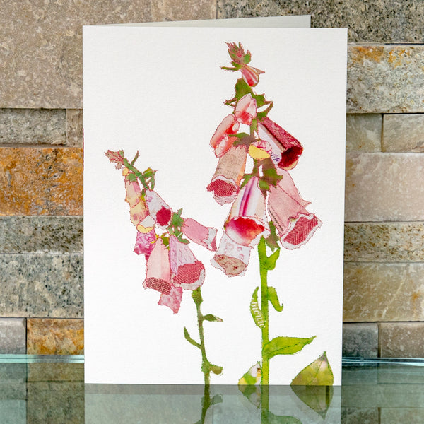 CKHF07B 'Foxgloves' Greetings Card (packed in 6's)