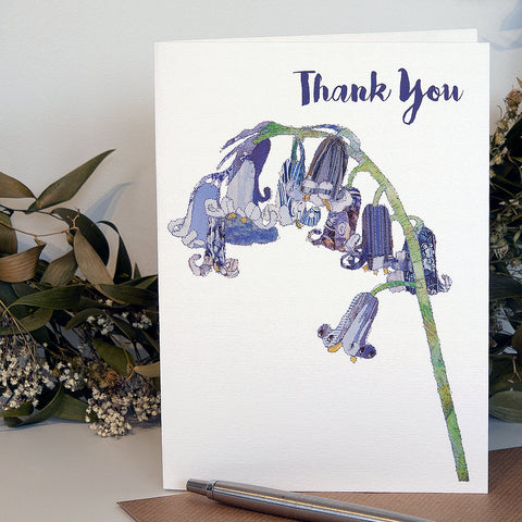 CKHF08 'Bluebell - Thank You' Greetings Card (packed in 6's)