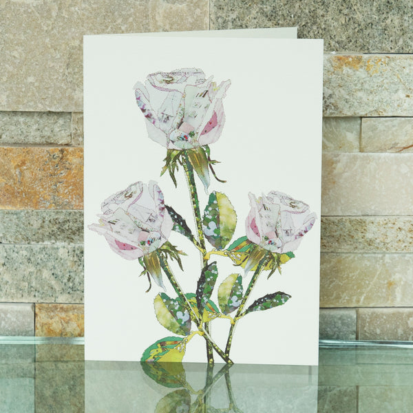 CKHF09B 'Rose White' Greetings Card (packed in 6's)