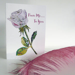 CKHF08 'Rose White' Greetings Card (packed in 6's)