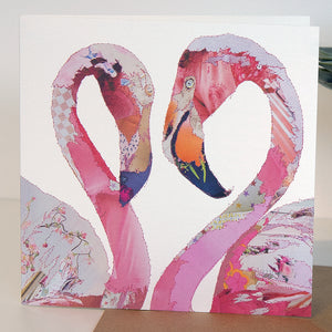 CKLB0001 'Flamingos' Greetings Card (packed in 6's)