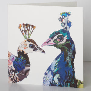 CKLB0003 'Peacocks' Greetings Card (packed in 6's)