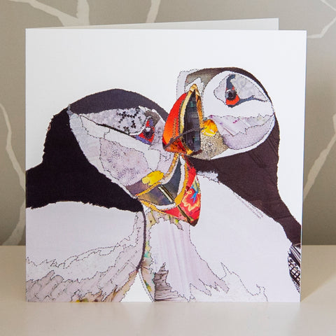 CKLB0005 'Puffins' Greetings Card (packed in 6's)