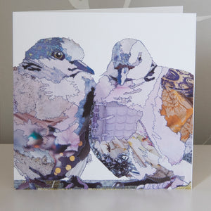 CKLB0008 'Turtle Doves' Greetings Card (packed in 6's)