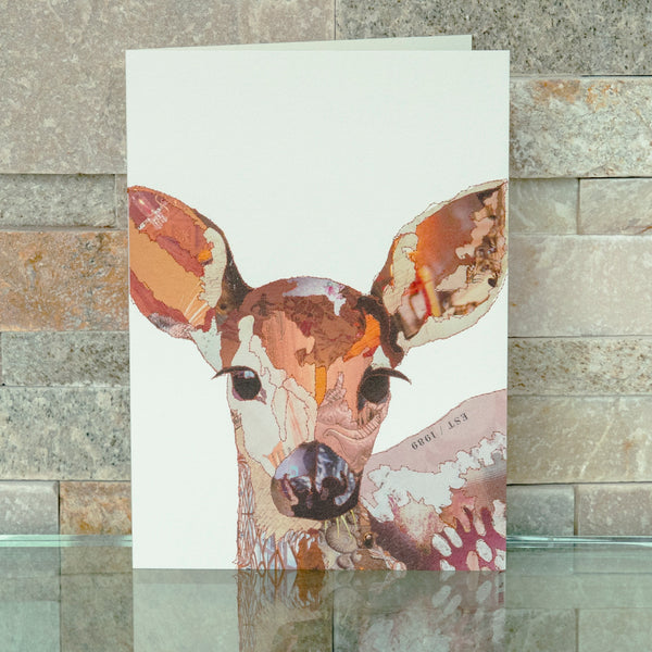 CKMB01B 'Baby Fawn' Greetings Card (packed in 6's)