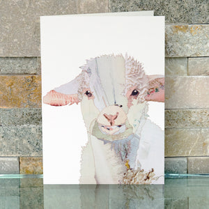 CKMB02B 'Baby lamb' Greetings Card (packed in 6's)