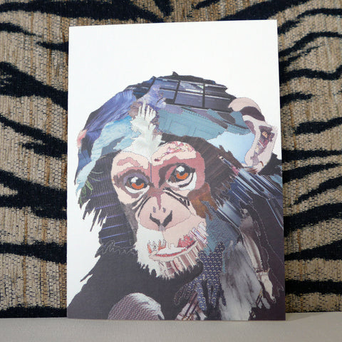 CKMB08 'Chimp' Greetings Card (packed in 6's)