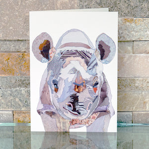 CKMB11 'Baby Rhino' Greetings Card (packed in 6's)