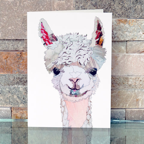 CKMB12 'Baby Llama' Greetings Card (packed in 6's)
