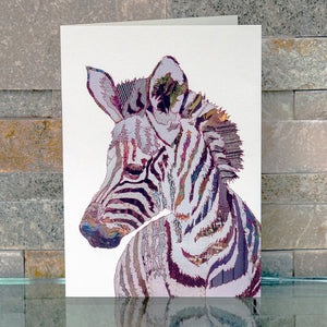 CKMB13 'Baby Zebra' Greetings Card (packed in 6's)