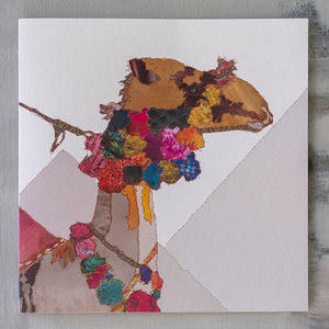 CKX0007 'Camel Heading East' Greetings Card (packed in 6's)