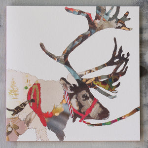 CKX008 'Reindeer Heading East' Greetings Card (packed in 6's)