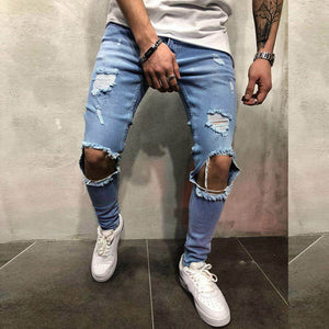 Mens Fashion Ripped Jeans