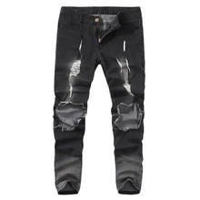Load image into Gallery viewer, Mens Fashion Ripped Jeans