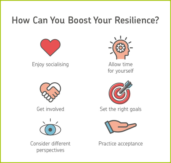 infographic on how to boost emotional resilience