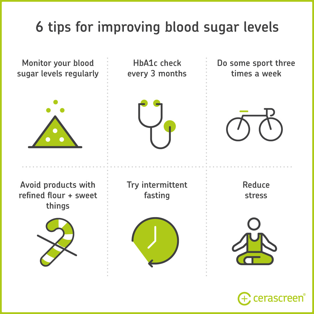 6 tips for improved long-time blood sugar values