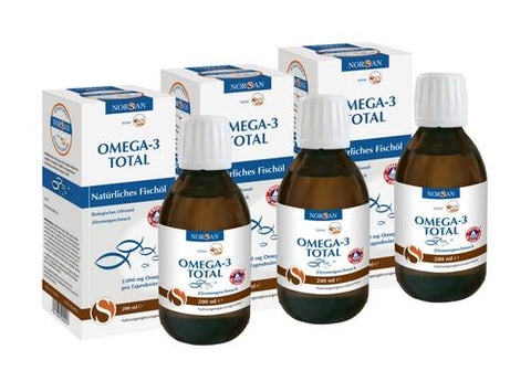 Norsan Omega-3 total oil (lemon) triple pack - 3x200 ml