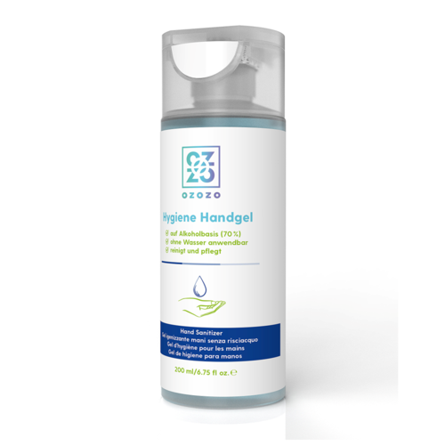 OZOZO Hygiene Hand Sanitiser Contains 70% Alcohol - 200 ml