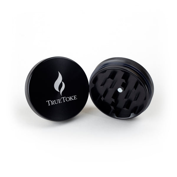 truetoke large 2-piece herb grinder black