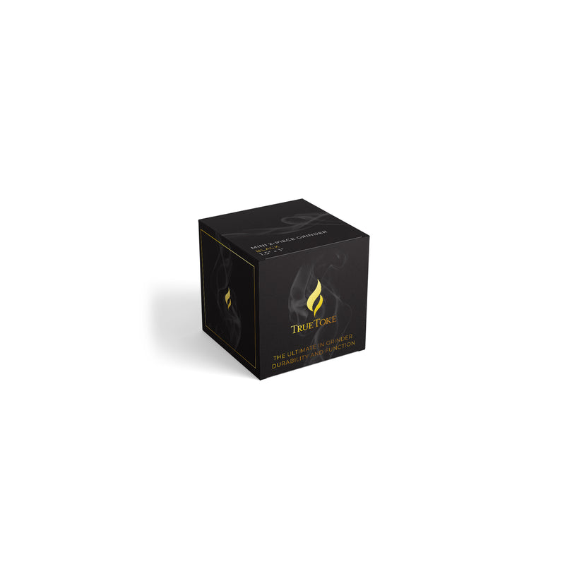 Mini 2-Piece TrueToke Grinder in Black