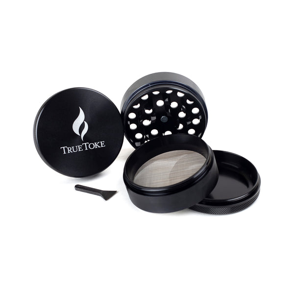 TrueToke Large Black 4-piece Grinder