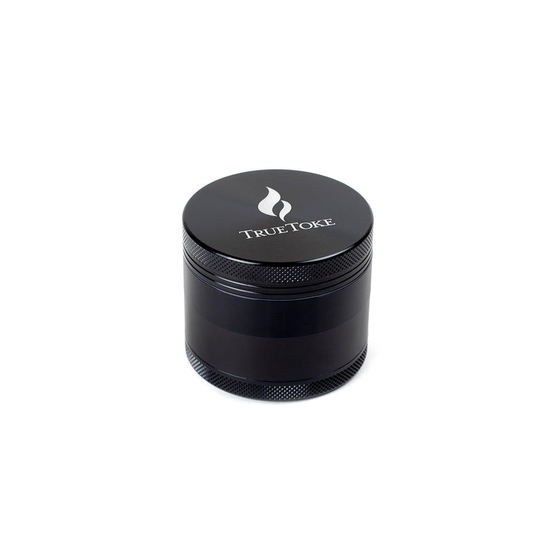 TrueToke Medium Black 4-piece Grinder