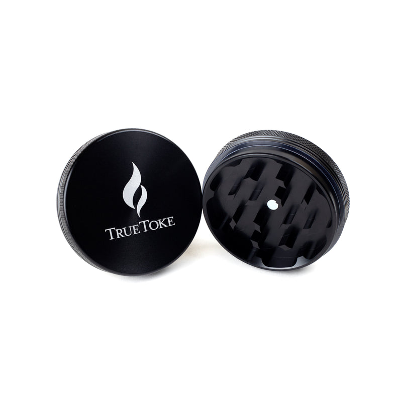 Medium 2-Piece TrueToke Grinder in Black
