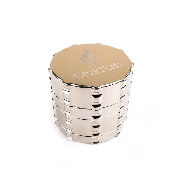 truetoke medium 4-piece chrome plated herb grinder
