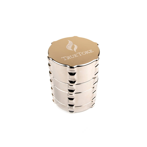 truetoke small 4-piece chrome plated herb grinder