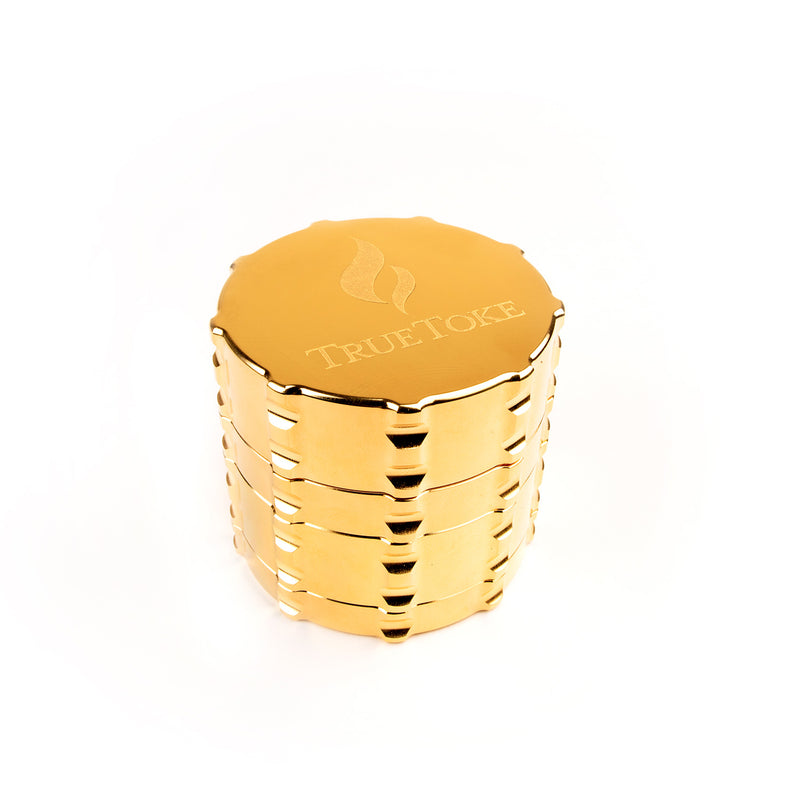 truetoke medium 4-piece 24k gold plated grinder