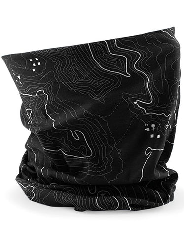 Gurglwarmer CLASSIC LOOK black map