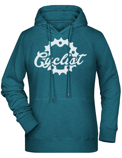 Cyclist Hoodie Damen ppetrol heather PREMIUM