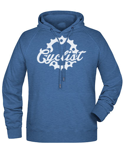 Cyclist Hoodie denim heather Herren Premium