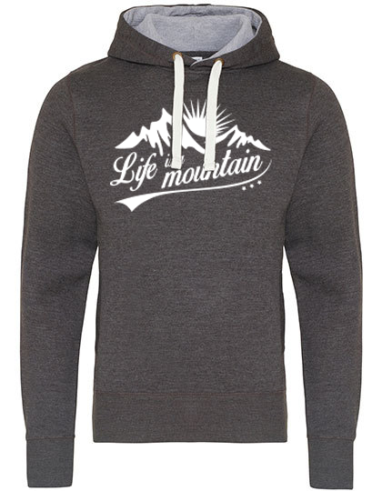 Life is a Mountain THE CHUNKY Hoodie grey PREMIUM
