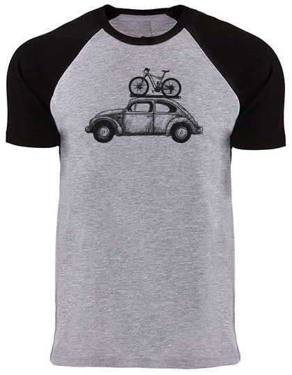Bike Bug T-Shirt black/grey heather Raglan PREMIUM