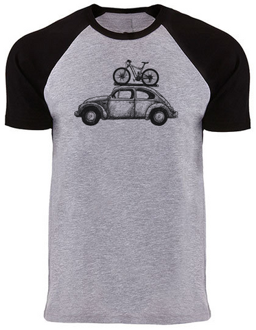 Bike Bug black/grey heather Raglan T-Shirt PREMIUM