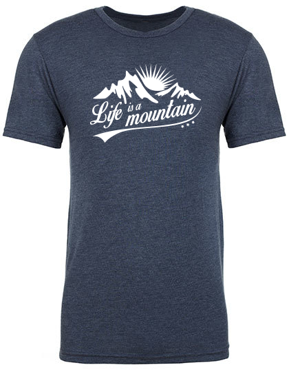 Life is a mountain T-Shirt vintage indigo PREMIUM
