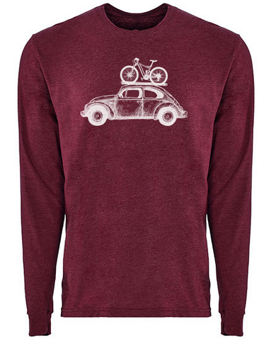 Bike bug Longsleeve heather maroon PREMIUM