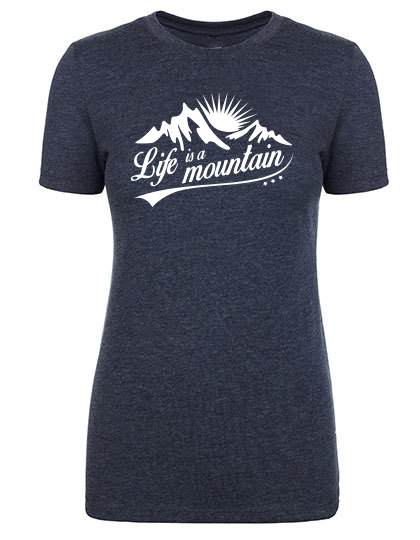 Life is a Mountain T-Shirt Damen vintage navy PREMIUM
