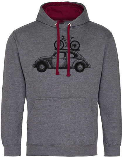Bike Bug 2-tone Hoodie heather/burgundy