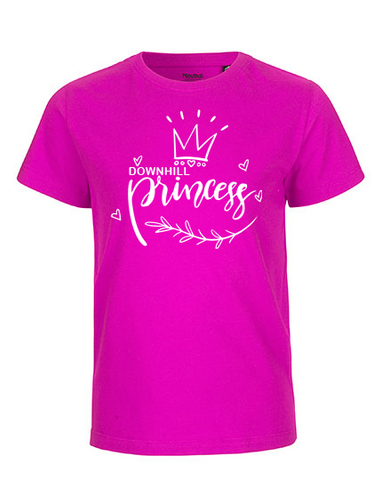Downhill princess Kinder T-Shirt pink