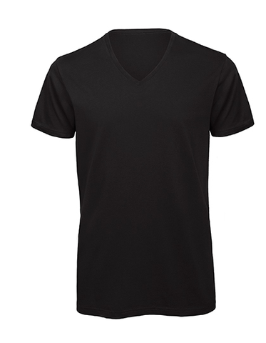 Men´s Basic T V-Neck black, Bio & Fairtrade