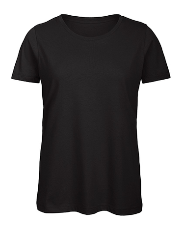 Ladies Basic T Rundhals black, Bio & Fairtrade