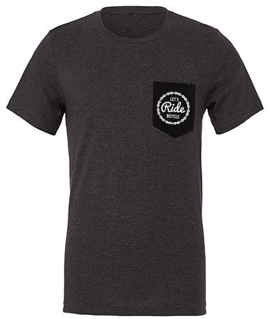 Let´s ride bicycle Pocket T-Shirt grey heather PREMIUM