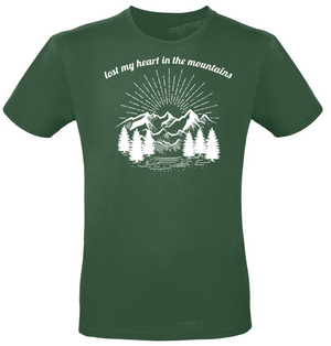 Lost my heart in the mountains T-Shirt nordish green